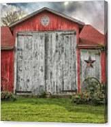 Amish Red Barn Canvas Print