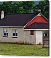 Amish School In Rote, Pa Canvas Print