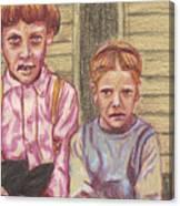 Amish Siblings Canvas Print