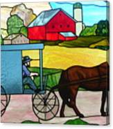 Amish Stained Glass Canvas Print