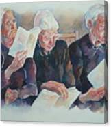 Amish Trio Canvas Print