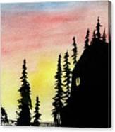 Among The Pines Canvas Print