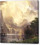 Among_the_sierra_nevada_mountains Canvas Print