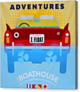 Amphicar Adventure Sign Canvas Print