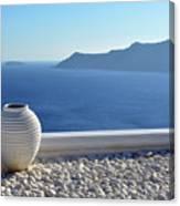 Amphora In Santorini, Greece Canvas Print