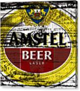 Amstel Beer Sign  Canvas Print