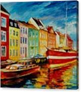 Amsterdam - City Dock Canvas Print