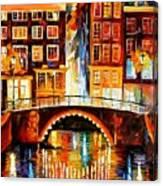Amsterdam - Little Bridge Canvas Print