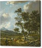 Amsterdam A Landscape With Cattle  Canvas Print