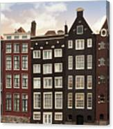 Amsterdam Architectre At Twilight Canvas Print