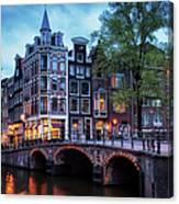 Amsterdam At Twilight Canvas Print