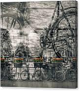 Amsterdam Bicycle Nostalgia Canvas Print