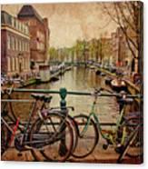 Amsterdam Canal Canvas Print