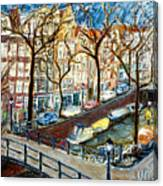 Amsterdam Canal Canvas Print