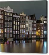 Amsterdam City Lights Canvas Print