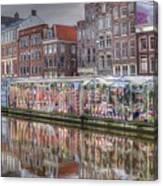 Amsterdam Flower Market Canvas Print