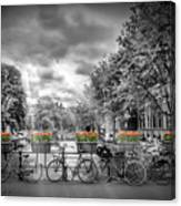 Amsterdam Gentlemens Canal Typical Cityscape Canvas Print