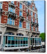 Amsterdam Holland Canal Hotel Restaurant Canvas Print