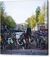 Amsterdam Parking Lot Canvas Print