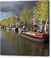 Amsterdam Prinsengracht Canal Canvas Print