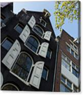 Amsterdam Spring - Arched Windows And Shutters - Right Canvas Print