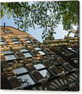 Amsterdam Spring - Fancy Brickwork Glow - Left Horizontal Canvas Print