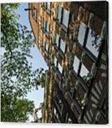 Amsterdam Spring - Fancy Brickwork Glow - Left Vertical Canvas Print