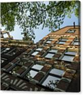 Amsterdam Spring - Fancy Brickwork Glow - Right Horizontal Canvas Print
