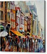 Amsterdam's Rain Canvas Print