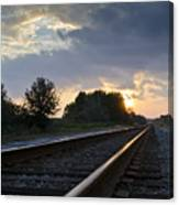 Amtrak Railroad System Canvas Print