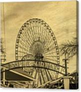 Amusement Park Vintage Canvas Print