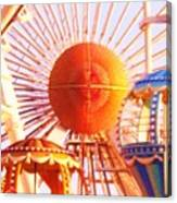 Amusement Rides Canvas Print