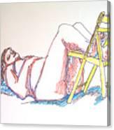 Bonnie And Chair Canvas Print