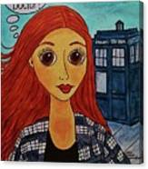 Amy Pond Where's The Doctor Canvas Print