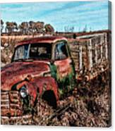 An Abandoned Truck Canvas Print