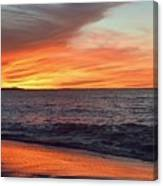 An Absolute Fire In The Sky Canvas Print