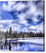 An Adirondack Winter Canvas Print