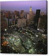 An Aerial View Of Ground Zero Canvas Print