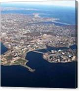 An Aerial View Of Naval Station Newport Canvas Print
