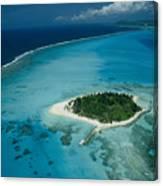 An Aerial View Of Saipan Island Canvas Print
