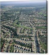 An Aerial View Of Urban Sprawl Canvas Print