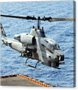 An Ah-1w Super Cobra Helicopter Canvas Print