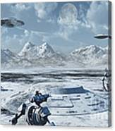 An Alien Base Located In The Antarctic Canvas Print