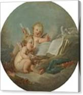 An Allegory Of Poetry Canvas Print