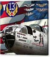 An American B-25c Pof Canvas Print