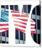 An American Flag In New York. Canvas Print