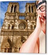 An American In Paris Notre Dame Canvas Print
