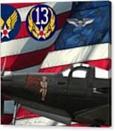 An American P-63 Pof Canvas Print