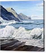 An April Morning At Crackington Haven Canvas Print