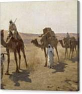 An Arab Caravan Canvas Print